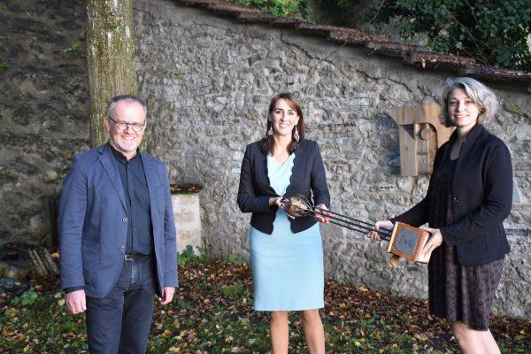 Landesrätin Maria Hutter mit den Preisträgern Clustermanager Herbert Lec...